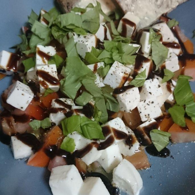 Tomate Mozzarella Feta Salat