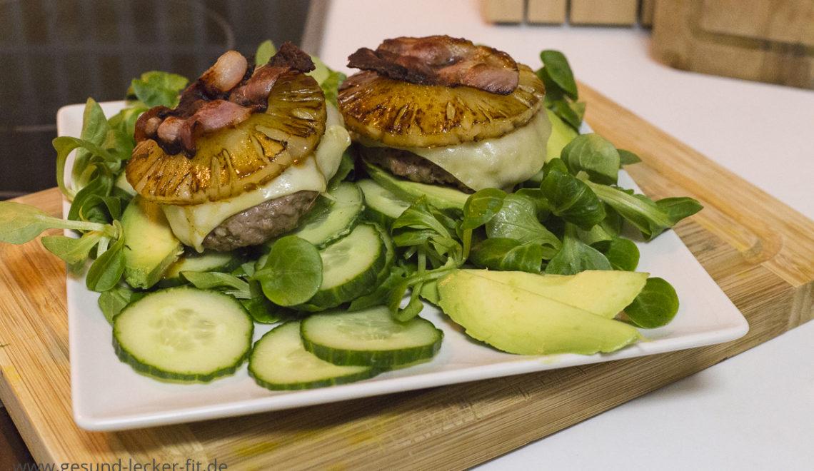 Paleo Burger mit Ananas