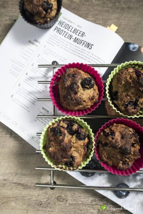 Heidelbeer Protein Muffins -
