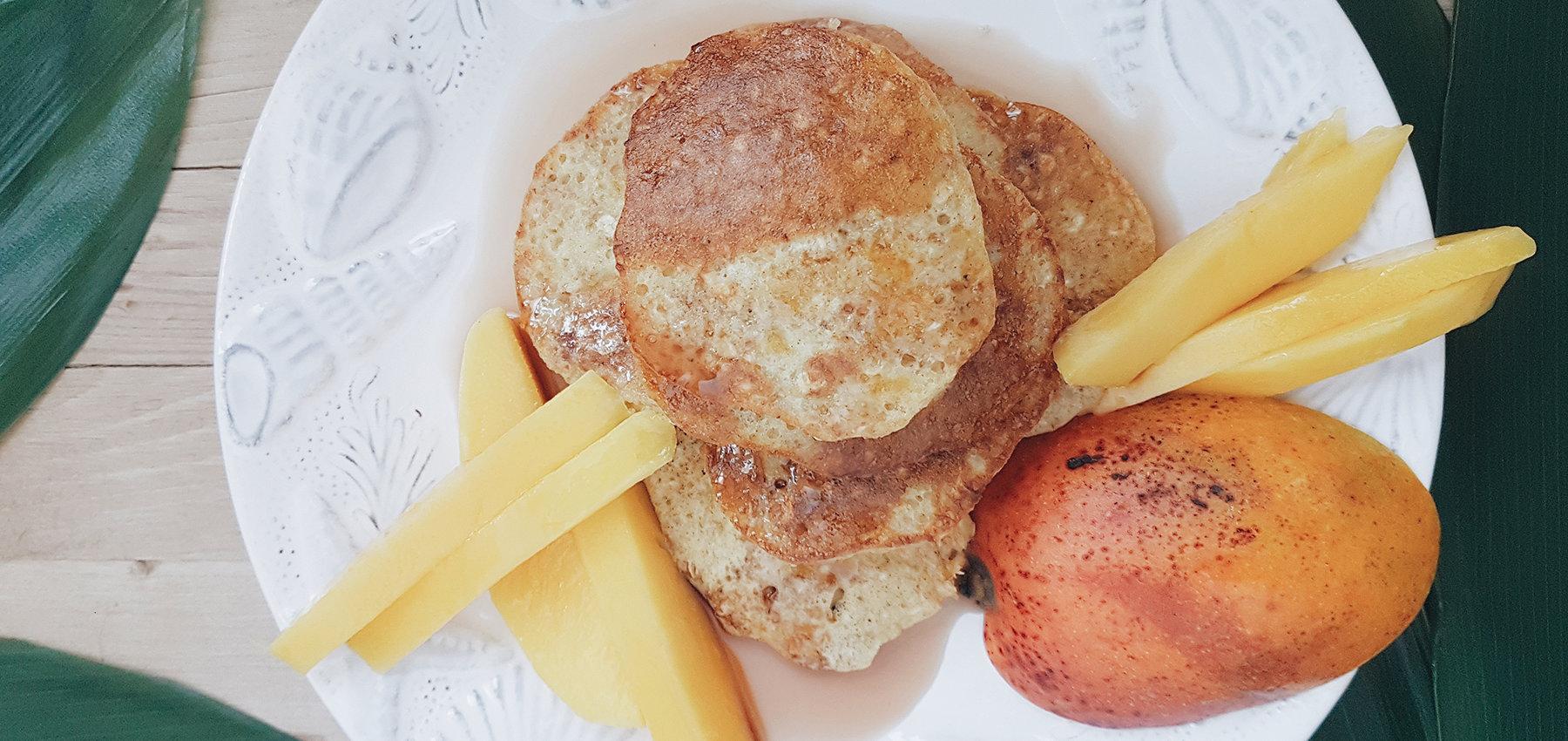 Pancakes mit Haferflocken -