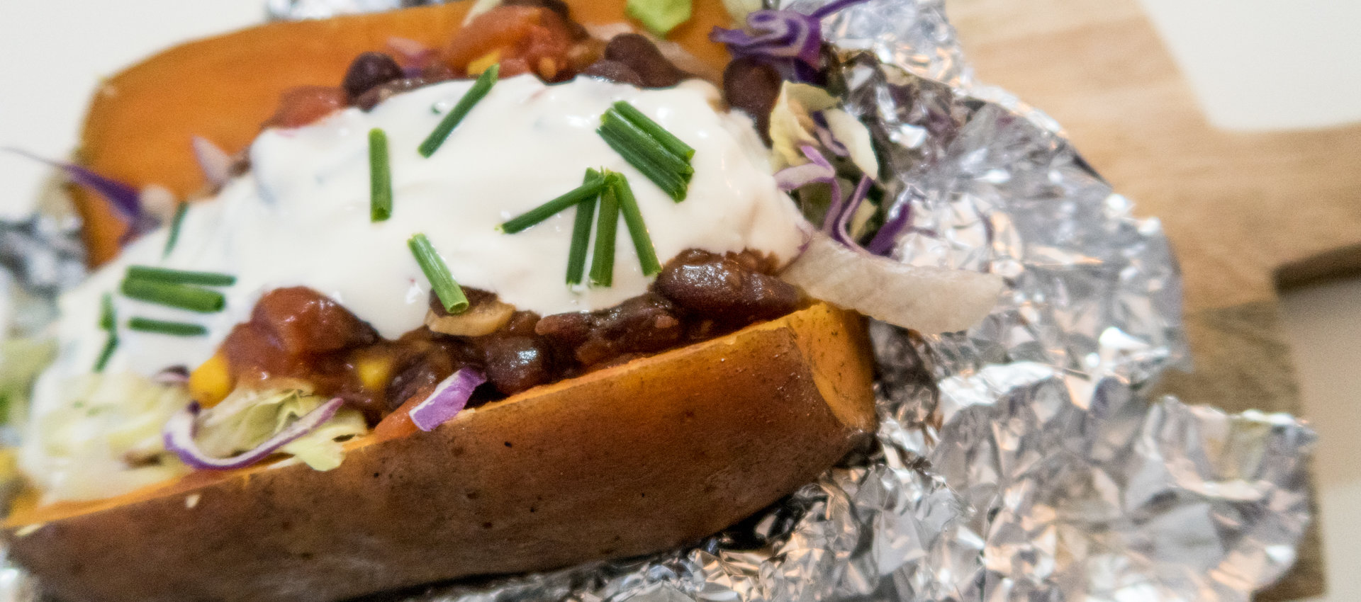 gefüllte Süßkartoffeln - mexikanische Art -