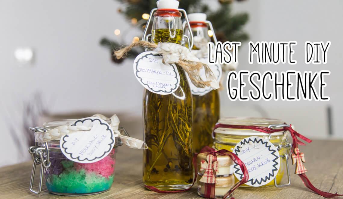 Last Minute DIY Weihnachtsgeschenke -
